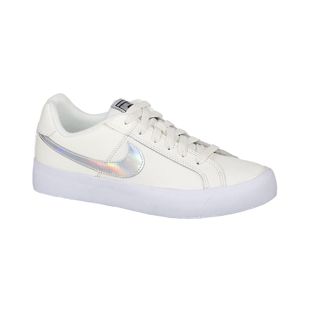 Tênis Feminino Moderno Casual Nike Branco Com Cinza Ao2810