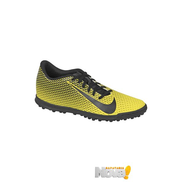 Chuteira-Futsal-Bravata-II-Nike-Amarelo-Preto-Tamanho--36---Cor--AMARELO-0