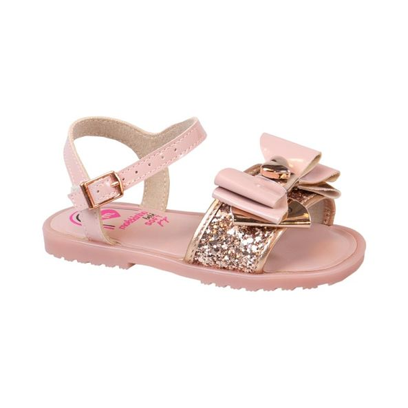 Sandalia-Infantil-Com-Laco-Fashion-Molekinha-Ouro-Rosado-2700102-Tamanho--18---Cor--OURO-ROSADO-0