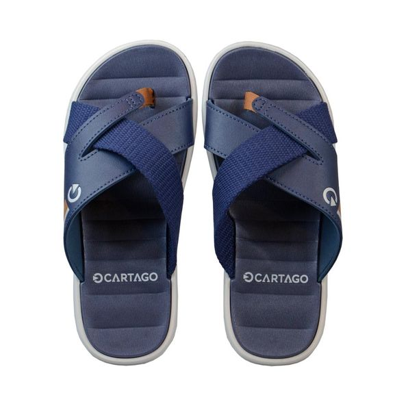 Sandalia-Casual-Slide-Capri-VII-Cartago-Cinza-Azul-Tamanho--40---Cor--CINZA-0