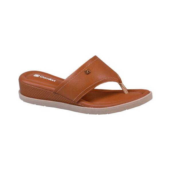 Sandalia-Anabela-Palmilha-Almofada-Comfort-Terracota-Tamanho--35---Cor--OCRE-0