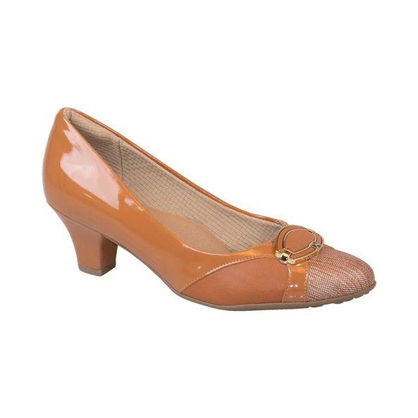 Sapato-Salto-Bloco-com-Raffia-para-Joanete-Comfort-Ocre-Tamanho--37---Cor--OCRE-0