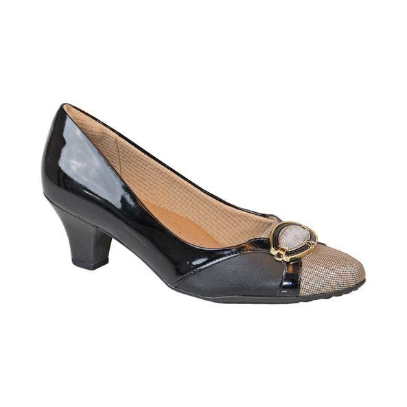 Sapato-Salto-Bloco-com-Raffia-para-Joanete-Comfort-Preto-Tamanho--38---Cor--PRETO-0