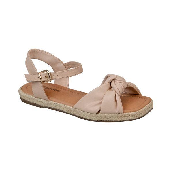 Sandalia-Rasteira-No-Solado-Huarache-Comfort-Bege-Tamanho--34---Cor--NUDE-0