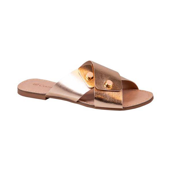 Flat-Rasteira-Casual-Cabedal-Trancado-Comfort-Bronze-Tamanho--34---Cor--BRONZE-0