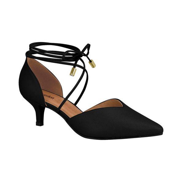 Sapato-Feminino-Elegante-Com-Amarracao-Comfort-Preto-1340102-Tamanho--39---Cor--PRETO-0