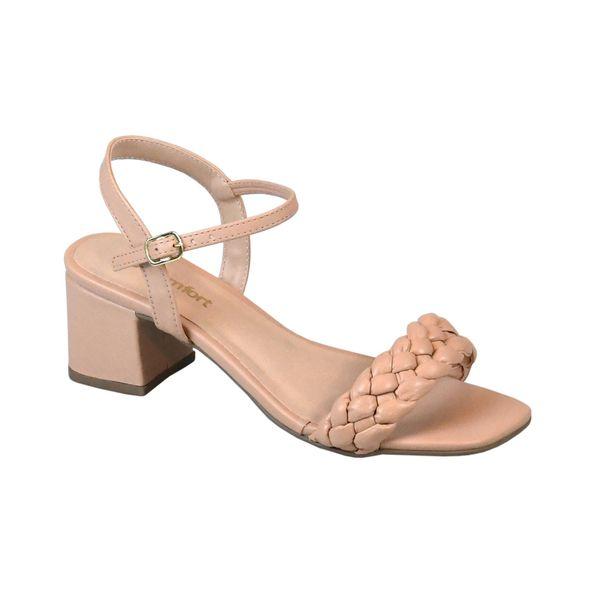 Sandalia-Trancada-Comfort-Bege-Tamanho--34---Cor--PELE-0