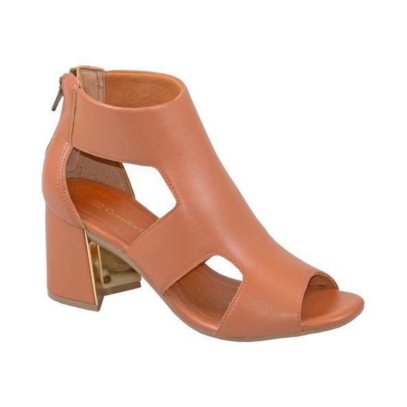 Sandalia-Ankle-Boot-com-Ziper-e-Salto-Bloco-Comfort-Terracota-Tamanho--35---Cor--CASTOR-0