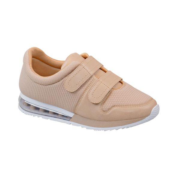 Tenis-Casual-Com-Velcro-Comfort-Bege-Tamanho--35---Cor--NUDE-0