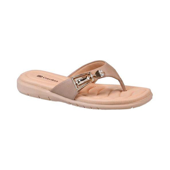 Sandalia-Rasteira-com-Fivela-Comfort-Creme-Tamanho--34---Cor--NUDE-0