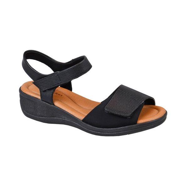 Sandalia-Anabela-para-Esporao-com-Velcro-Comfort-Preta-Tamanho--34---Cor--PRETO-0