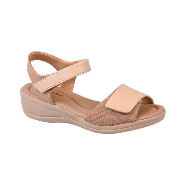 Sandalia-Anabela-para-Esporao-com-Velcro-Comfort-Bege-Tamanho--34---Cor--BAUNILHA-0