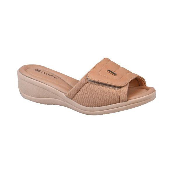 Tamanco-Anabela-com-Velcro-Comfort-Bege-Tamanho--34---Cor--BAUNILHA-0