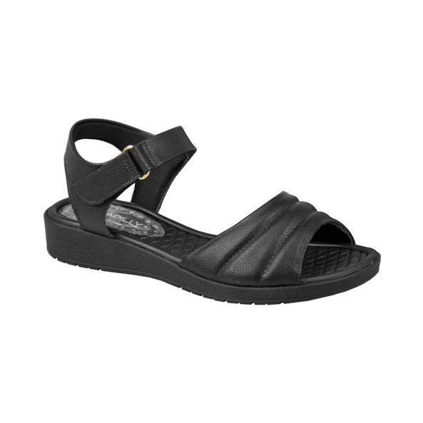 Papete-Salto-Anabela-Baixo-com-Velcro-Comfort-Preta-Tamanho--35---Cor--PRETO-0