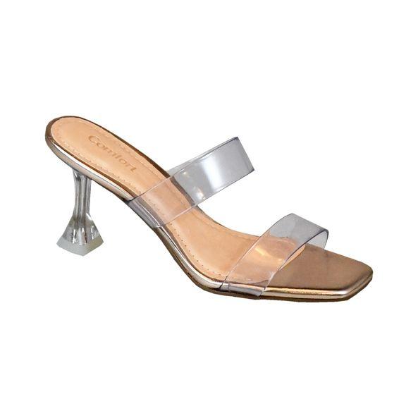 Sandalia-com-Tiras-em-Vinil-Comfort-Rose-Metalico-Tamanho--34---Cor--METALIZADO-ROSE-ESPELHO-0