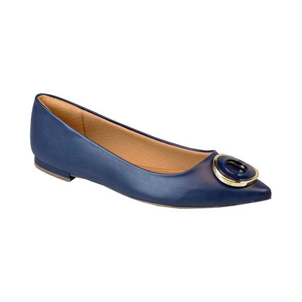 Sapatilha-Sofisticada-Com-Fivela-Frontal-Comfort-Azul-Tamanho--35---Cor--NAPA-MARINHO-0