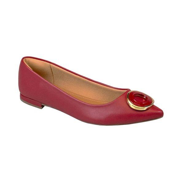 Sapatilha-Sofisticada-Com-Fivela-Frontal-Comfort-Vermelha-Tamanho--34---Cor--NAPA-VERMELHO-0