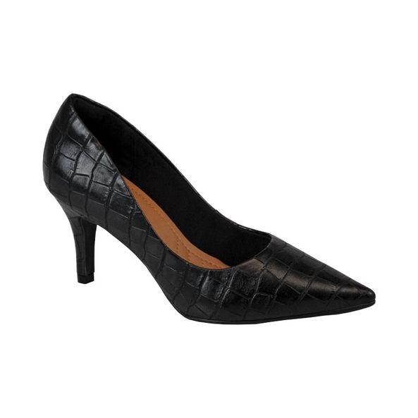 Scarpin-Feminino-Com-Textura-Comfort-Preto-Tamanho--38---Cor--PRETO-0
