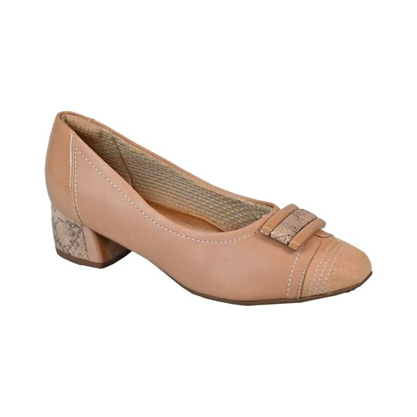 Sapato-com-Detalhes-Escamados-Comfort-Cappuccino-Tamanho--33---Cor--CAPUCCINO-0