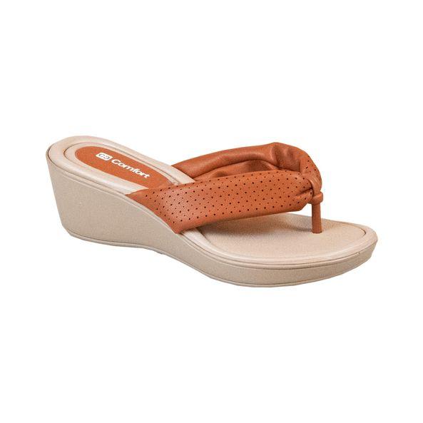 Sandalia-Anabela-com-Tiras-Soft-Comfort-Ocre-Tamanho--34---Cor--OCRE-0