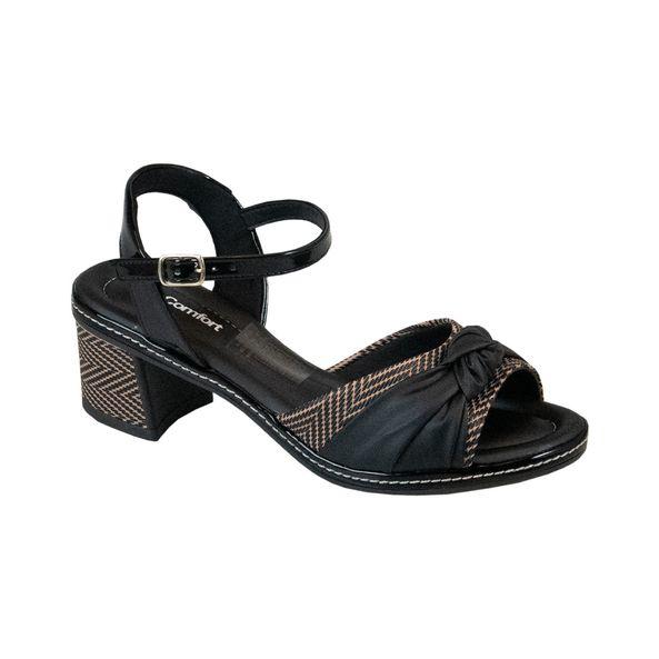 Sandalia-Salto-Bloco-com-Trama-Comfort-Preta-Tamanho--35---Cor--PRETO-0