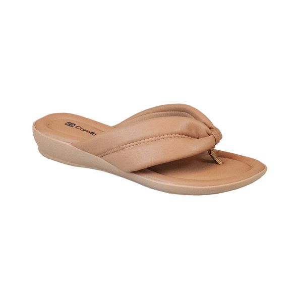 Sandalia-Anabela-Salto-Curto-Comfort-Tamanho--34---Cor--CAPUCCINO-0