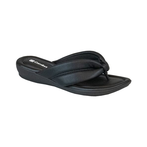 Sandalia-Anabela-Salto-Curto-Comfort-Tamanho--36---Cor--PRETO-0