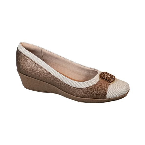 Sapato-Anabela-Comfort-Tamanho--33---Cor--BRONZE-0