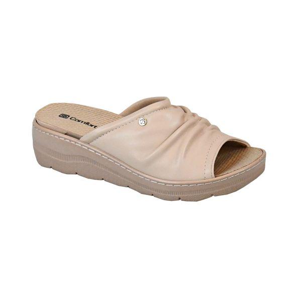 Tamanco-Anabela-Cabedal-Enrugado-Comfort-Tamanho--34---Cor--MARFIM-0
