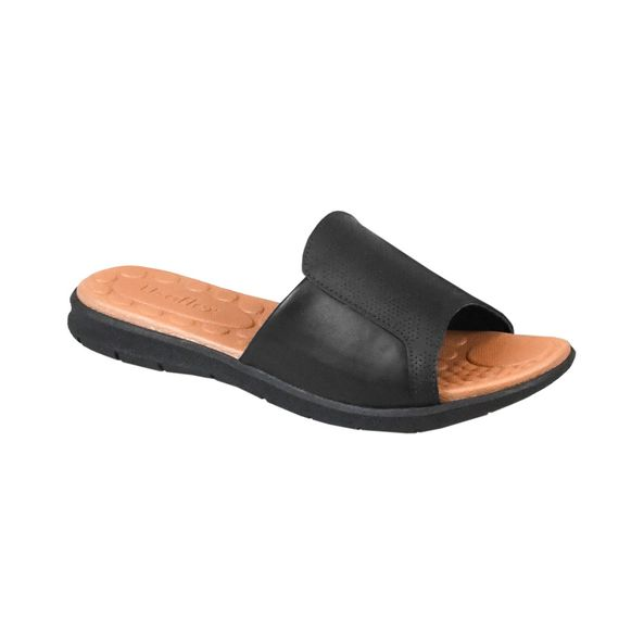 Sandalia-Rasteira-em-Couro-Comfort-Tamanho--35---Cor--PRETO-0