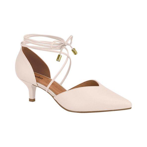 Sapato-Feminino-Elegante-Com-Amarracao-Comfort-Gelo-Tamanho--40---Cor--CREME-0
