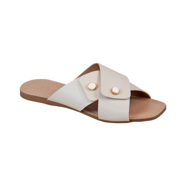 Sandalia-Rasteira-com-Tiras-Cruzadas-Comfort-Branco-Tamanho--34---Cor--OFF-WHITE-BRANCO-0