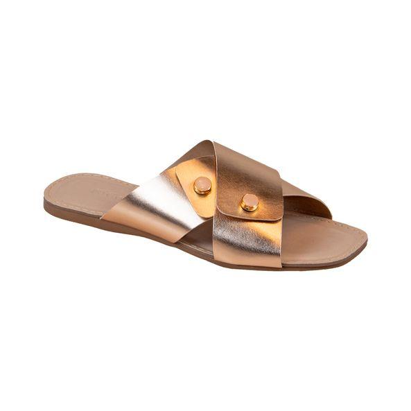 Sandalia-Rasteira-com-Tiras-Cruzadas-Comfort-Bronze-Tamanho--34---Cor--BRONZE-0