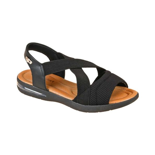 Sandalia-com-Elasticos-Cruzados-Comfort-Preta-Tamanho--33---Cor--PRETO-0